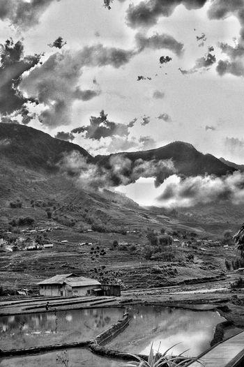 Vietnam Sapa Blackandwhite Popular Popular Photos Cloud - Sky Mountain Sky Water Scenics - Nature Tranquil Scene Beauty In Nature Nature Day Tranquility No People Outdoors Mountain Range Land Tree Lake Environment Plant