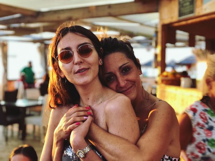 mother and daughter EyeEm Gallery EyeEm Best Shots Mother & Daughter EyeEm Selects Women Two People Emotion Glasses Fashion Adult Portrait Smiling Young Adult Positive Emotion Love Happiness Sunglasses Young Women Embracing Moms & Dads Moms & Dads