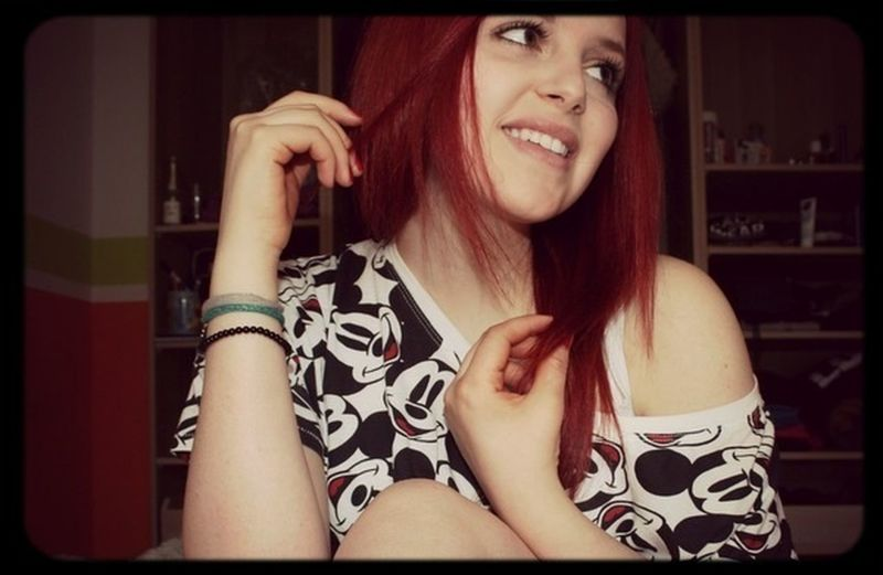 Girl Red Hair Smile