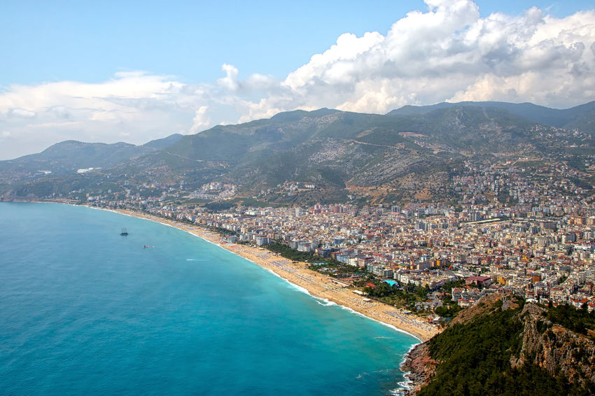 View of Alanya Alanya Beach Life Cityscape Holidays Mediterranean  Mediterranean Sea Ruins Sky And Clouds Turkey Alanya Castle Architecture Beauty In Nature Castle Walls City View  Fortress Walls Mountain Mountain Range Nature Scenics - Nature Sea Sky Tourist Destination Travel Destinations Vacation Destination Water