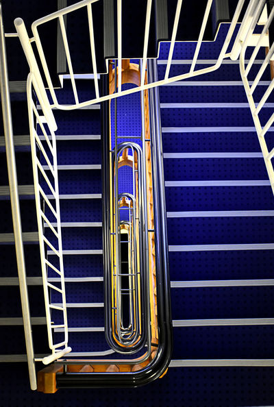 Treppenhaus Architecture Arcitecturephotography Blue Built Structure Day Indoors  No People Old House Railing Staircase Steps Steps And Staircases The Way Down The Way Up Perspectives On Nature