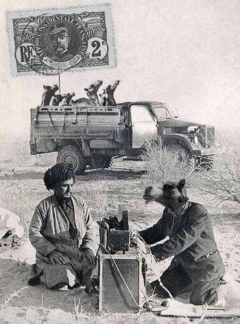 التجار الإبل Alttjjar Al'iibil Camels Merchants circa 1945 Splinters Of Reality Surrealism Facial Experiments Photographic Approximation