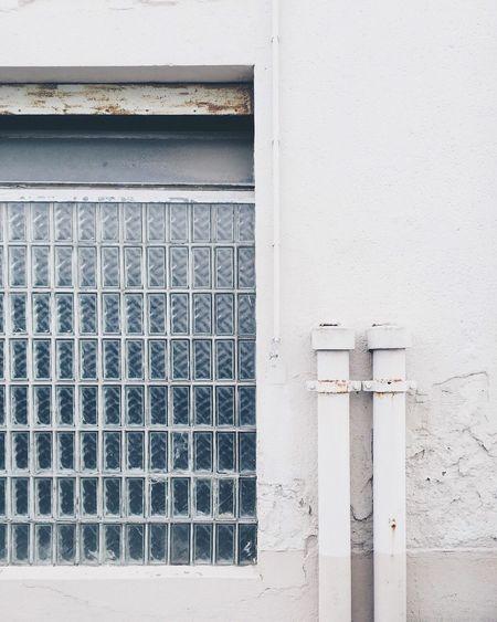 Close-up of white door