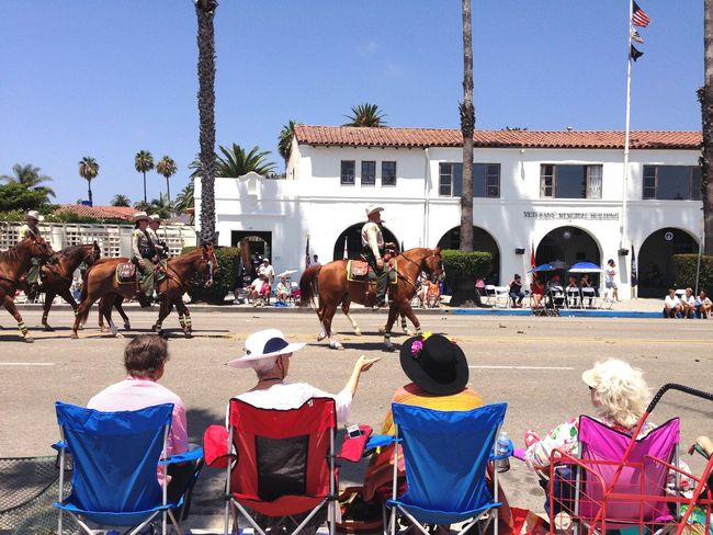 Fiesta California Santa Barbara, CA Colour Old Ladies Grand Ma Parade Horse Architecture Domestic Animals Real People Built Structure Building Exterior Mammal Women