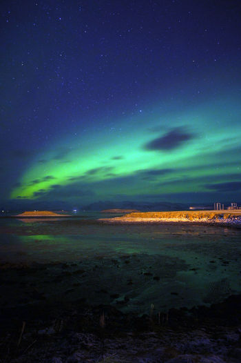 Aurora Polaris Beauty In Nature Landscape Nature Night No People Outdoors Star - Space Lost In The Landscape