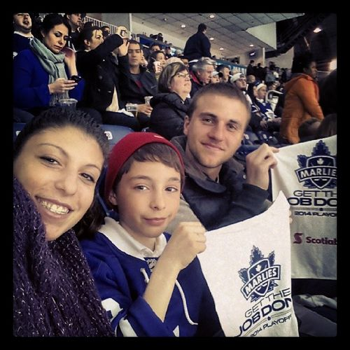 Marlies game with the boys :) Playoffgame Torontomarlies Marlies Ricohcoliseum Game3 Milwaukeeadmirals Winning 2zero Homegame Latepost Cousins  Bf FunNightOut Groupondeal 1sthockeygameforRiley Somanyhits Congratsmarlies Exhitbitionplace BMOfield