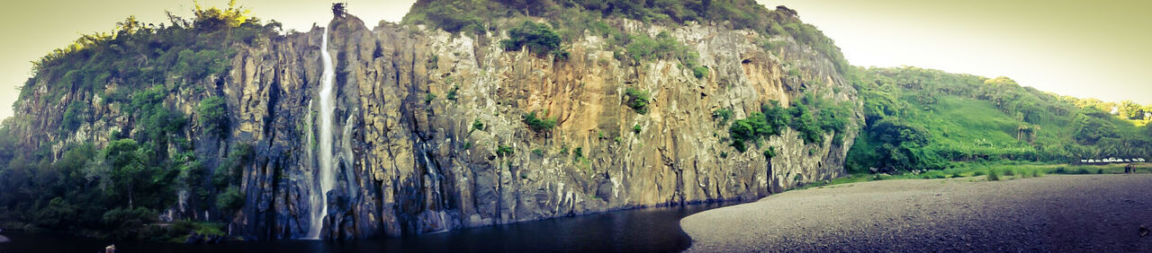 La Réunion  Nature Outdoors Beauty In Nature Falls Reunion Island Panoramic Cascade Niagara Water Green Color No People