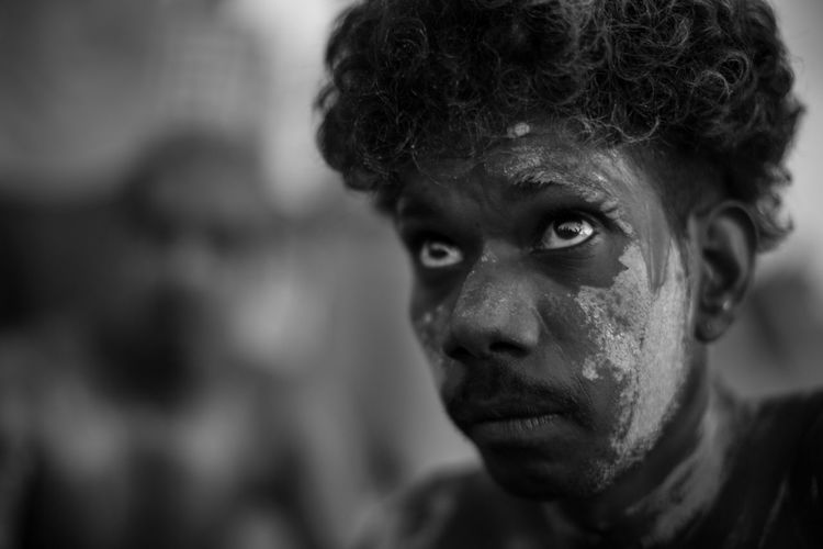 Aboriginal Australia Native Portraits Adult Close-up Emotion Focus On Foreground Headshot Looking Males  Men One Person Portrait Serious The Traveler - 2018 EyeEm Awards The Portraitist - 2018 EyeEm Awards