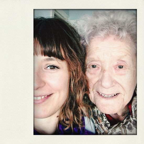 Taking Photos with grandma/ beautiful woman/ my best exemple of feminity / she's 87/ so proud!!! Enjoying Life That's Me