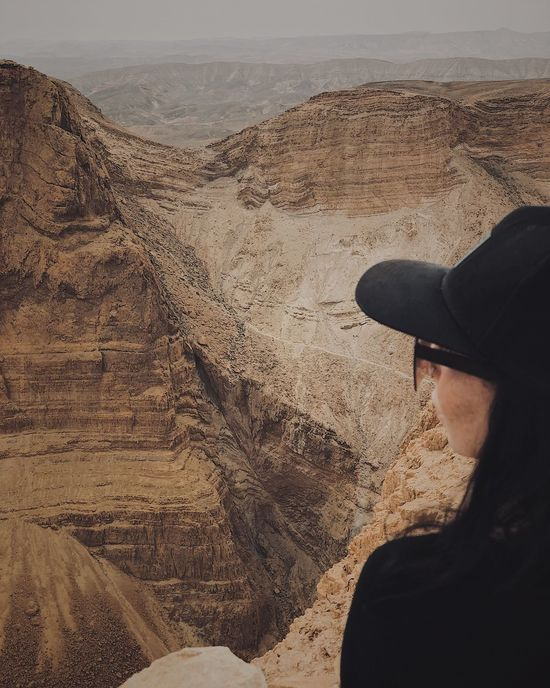 Earth Mood Shapes In Nature  Hiking Nature Letsgoeverywhere Travel Nature Photography Beautiful Nature Amasing Landscape Desert Girl Israeloftheday Mountains Travel Land Beach One Person Real People Sand Nature Day Outdoors Lifestyles First Eyeem Photo