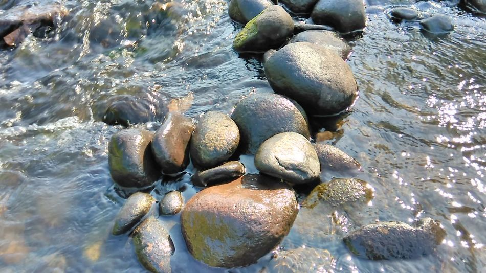 Rocks Day Outdoors Nature Beach Water Beauty In Nature Close-up No People Rural Scene Province Field Good Weather Riverflow Calm Peacefulness View Relaxing