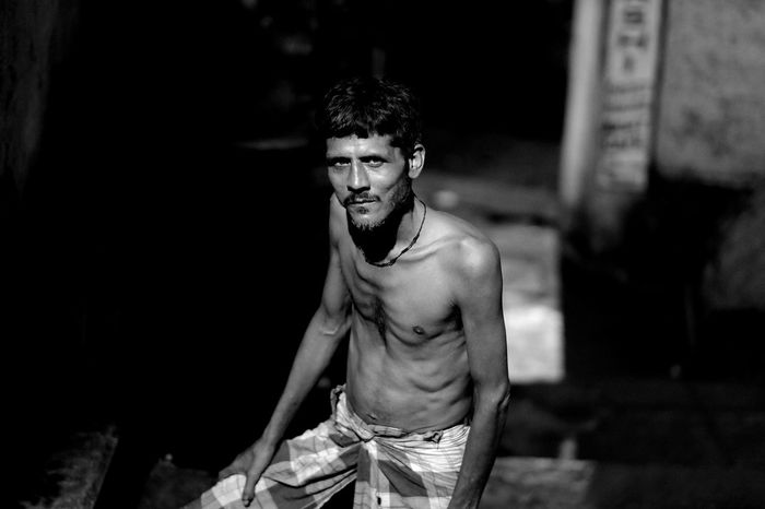 Goodnight Benares | India 2016 Dark Darkroom Focus On Foreground Handsome Indoors  Lifestyles Person Three Quarter Length Young Adult