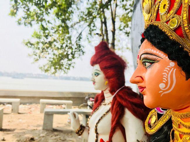 Human Representation Religion Spirituality Day Statue Outdoors Close-up