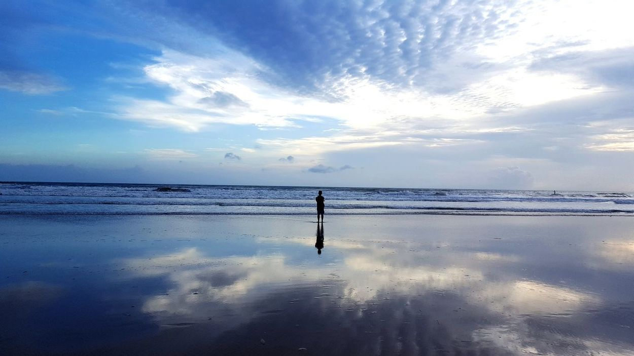 Some time ... Beach Sea Sand One Person Cloud - Sky Nature Sunset Horizon Over Water Landscape Full Length Water Sky Silhouette People Summer Reflection Beauty Standing Adult Scenics First Eyeem Photo Live For The Story