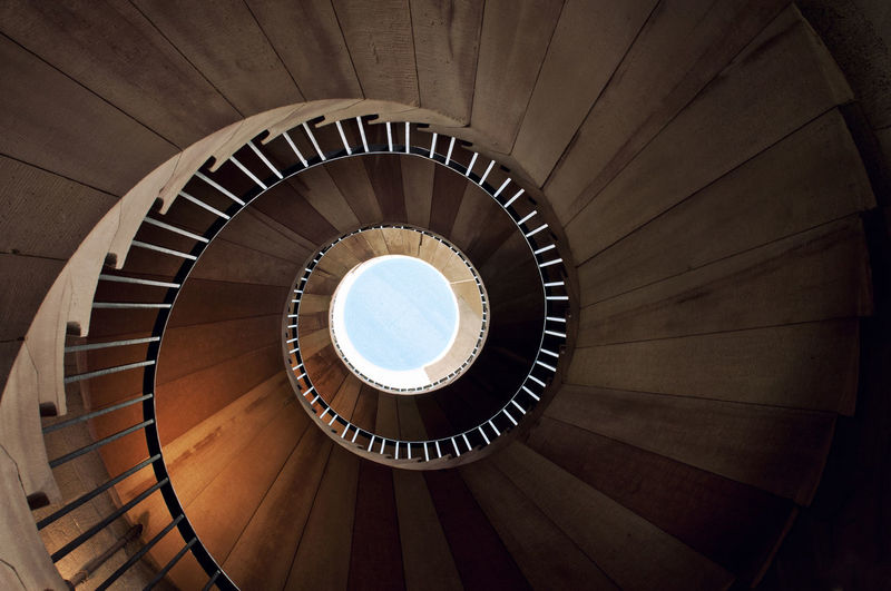 Spiral Staircase Architectural Feature Architecture Backgrounds Building Built Structure Circle Close-up Design Diminishing Perspective Directly Below Full Frame Geometric Shape Hand Rail Low Angle View Modern No People Pattern Railing Repetition Spiral Spiral Staircase Staircase Stairs Steps Steps And Staircases