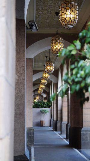 The Taj Mahal Hotel,Corridors. Hanging Illuminated No People Indoors  Architecture Thetajmahalhotel Mumbai SonyAlpha58 Day Lights Luxury Colaba Lifestyles