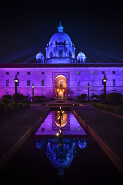 Night Dome Reflection Landscape Architecture Water Illuminated Outdoors Rashtrapati Bhawan Winter Sky Cityscape City Politics And Government Rashtrapatibhawan Travel Destinations RashtrapatiNiwas Rashtrapati Bhavan Diwali 2017 Delhi Rashtrapati Bhavan, Central Secretariat. EyeEmNewHere L New Delhi Architecture EyeEmNewHerе