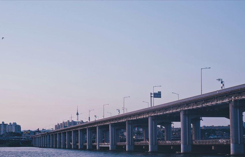 Outdoors Bridge - Man Made Structure Clear Sky No People Seoul Banpo Hangang Park Banpo Bridge 반포대교