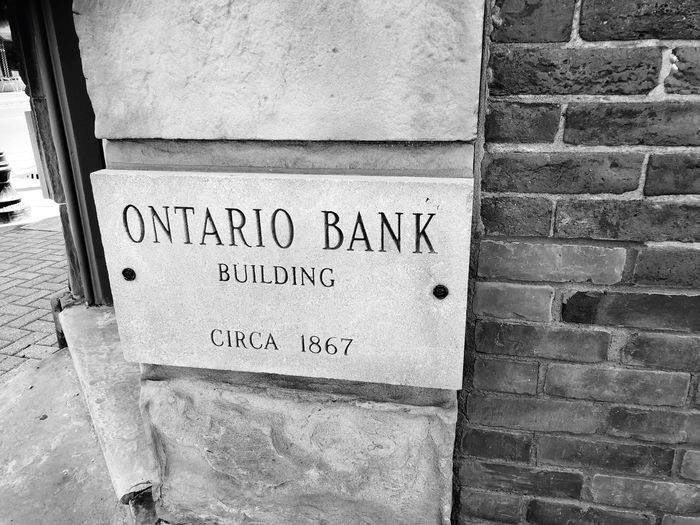 Street / Building / Heritage Photography series: Historical building at Whitby, Ontario Canada Whitby Ontario Heritage Site Street Photography Text Western Script Communication Wall Wall - Building Feature Day No People Architecture Built Structure Sign Information Close-up Outdoors Brick Wall Brick Building Exterior Textured  Script
