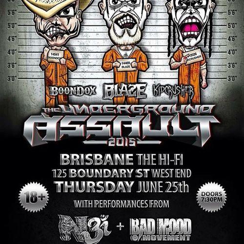 June 25th! My BADMOOD Family & myself will be apart of The Underground Assault with TheViking N3! Hit us up on Facebook for details ! ☺️ Bmm BadMood N3 TheUndergroundAssault Boondox Blaze Kidcrusher