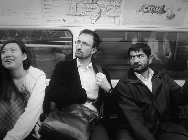 Mix of people on The Tube #future #london #padrag #subway