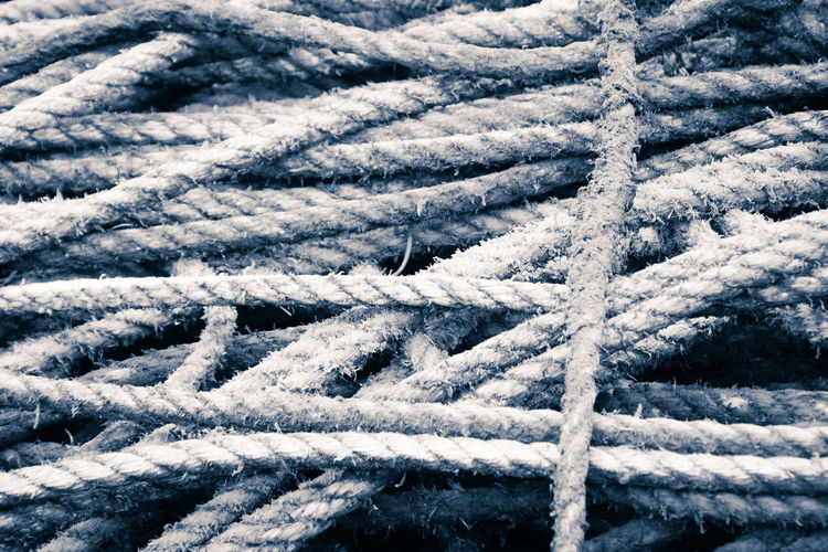 High Angle View Of Rope
