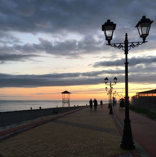 Sochi Promenade Russia Sunset Embankment Evening Walk Sea Sea Side Evening Promenade Sky Сочи Адлер