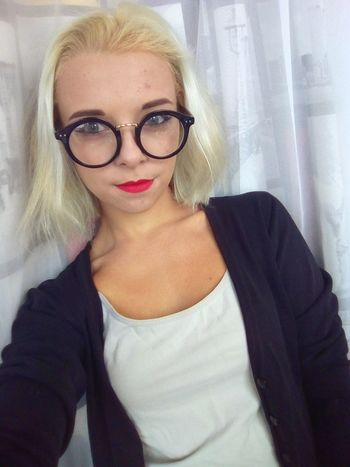 Eyeglasses  Portrait Blond Hair Looking At Camera Only Women Adults Only One Woman Only One Person People Beauty Headshot Young Adult Human Body Part Human Lips Eyesight Red Lips Lipstick Smile Russian Girl Beautiful Woman One Young Woman Only Close-up Women Adult Bday Celebration