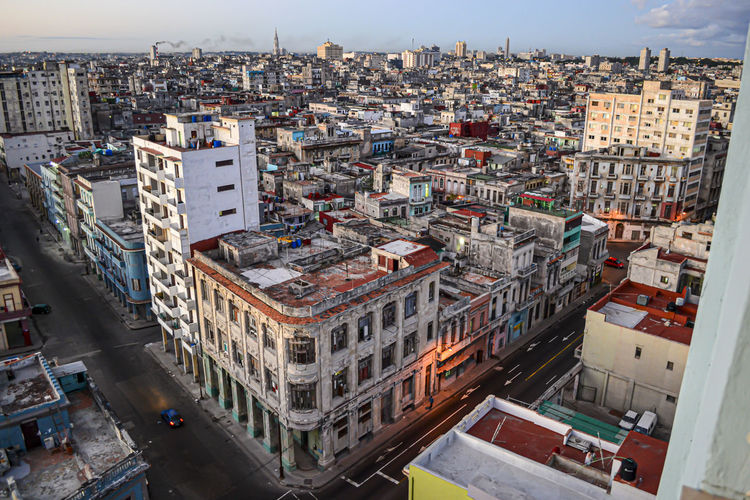 Colorful and vibrant havana cityscape, cuba. travel and tourism.
