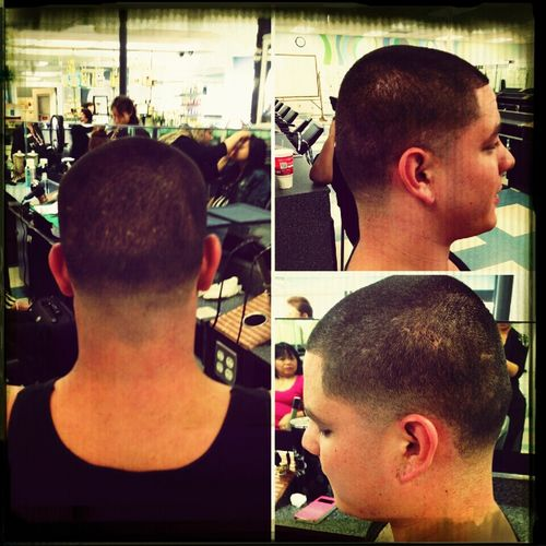 Practice makes perfect. I am on my way there. Mens Haircut. Cosmetology Hairstylist Mens Haircut Haircut