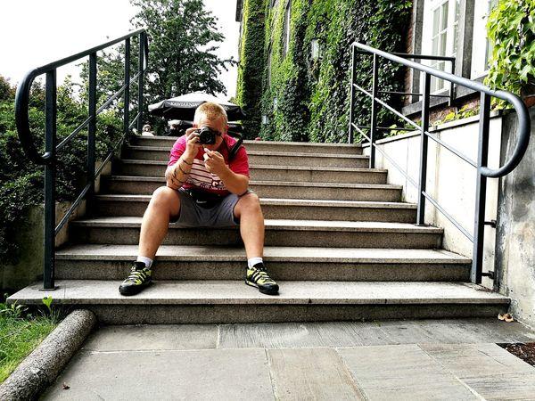 Man Man Photography Krakowpoland Stairs Camera