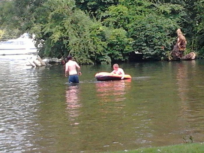 My sons in wild water lol hurley island is the BEST place to swin in the River Thames
