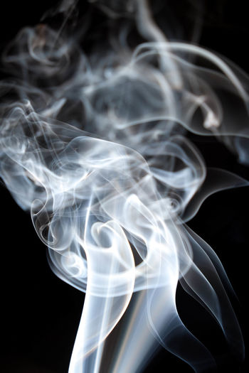 Abstract Black Background Burning Changing Form Close-up Flowing Focus On Foreground Fragility Incense Indoors  Luminosity Motion Moving Up No People Pattern Smoke Smoke - Physical Structure Studio Shot Swirl Veil Vulnerability  White Color