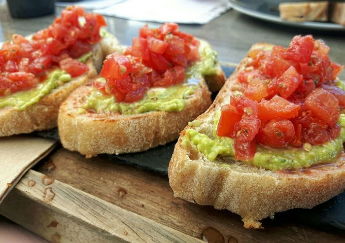 Food Food And Drink Vegetarian Food Snack Bread Bruscetta Appetizer Freshness Sandwich Tomato Healthy Eating Ready-to-eat Close-up Close Up Foodphotography Food Photography Bruschetta Healthy Healthy Food Food Stories