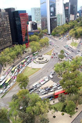 Vista desde el Senado de la República. Glorieta Paseo De La Reforma Mexico City City Architecture Car Road Building Exterior Transportation Mobility In Mega Cities Skyscraper High Angle View Traffic Street Built Structure City Life Land Vehicle City Street Tree Cityscape Mode Of Transport Outdoors Day Growth