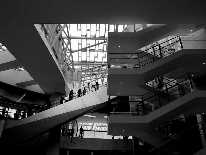 Shaping The Future. Together. ZzzzZ Silhouette IPhoneography Urban Geometry Architecture Cityscapes Monochrome Blackandwhite Streetphoto_bw Light And Shadow