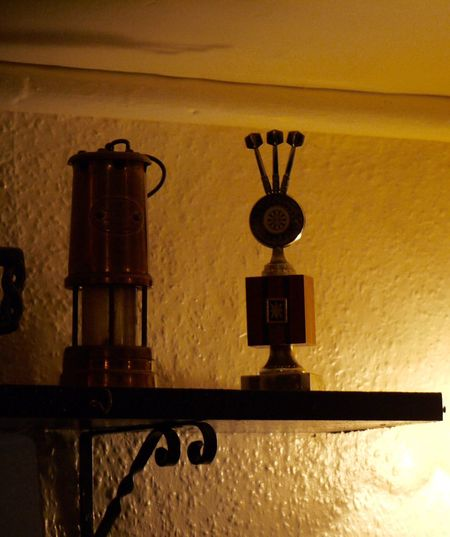 Dart Trophy Darts Davey Miners Lamp Lamp Reflection Shadow Shelf Sidelit Silhouettes Yellow Color