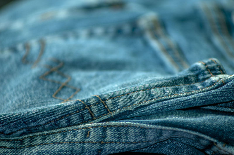 Close-up of jeans pant