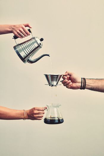 Filter coffee People Men Hand Barista Filter Baristalife Holding Kalita Two People Kalitawave Human Hand Human Body Part Barista Art EyeEmNewHere Indoors  Studio Shot Glass Table Real People Food And Drink Refreshment Drinking Glass White Background Drink Pouring Lifestyles Human Limb The Minimalist - 2019 EyeEm Awards