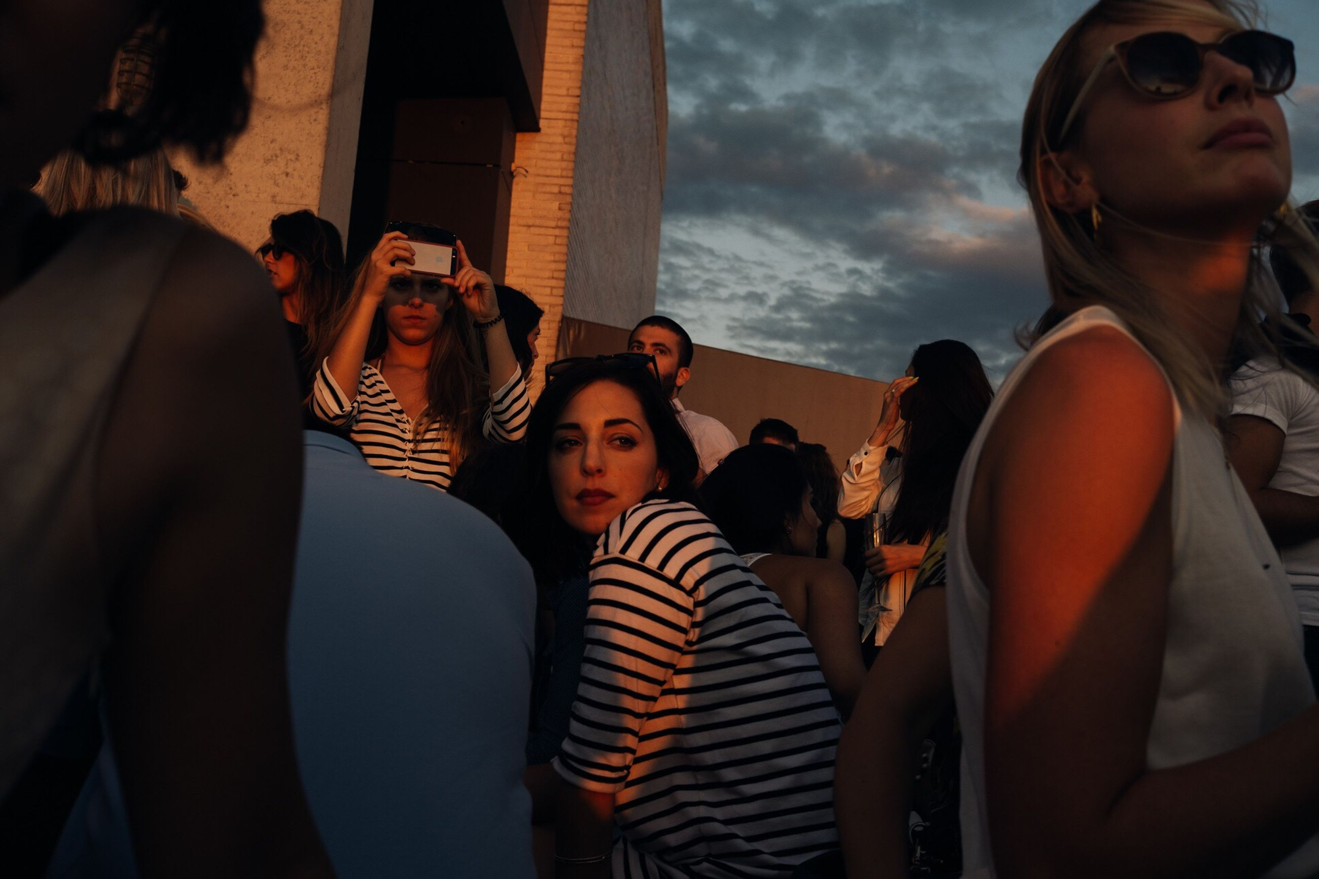 young adult, lifestyles, night, young women, hipster - person, party - social event, women, real people, sunset, celebration, friendship, togetherness, people, nightlife, sky, adult, outdoors, adults only