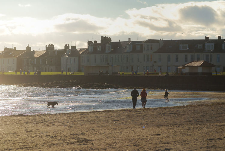 Beach Coastal Life Dog Walking Lifestyles Outdoors Seaside Tourism Destination Troon Troonbeach Walking On Beach