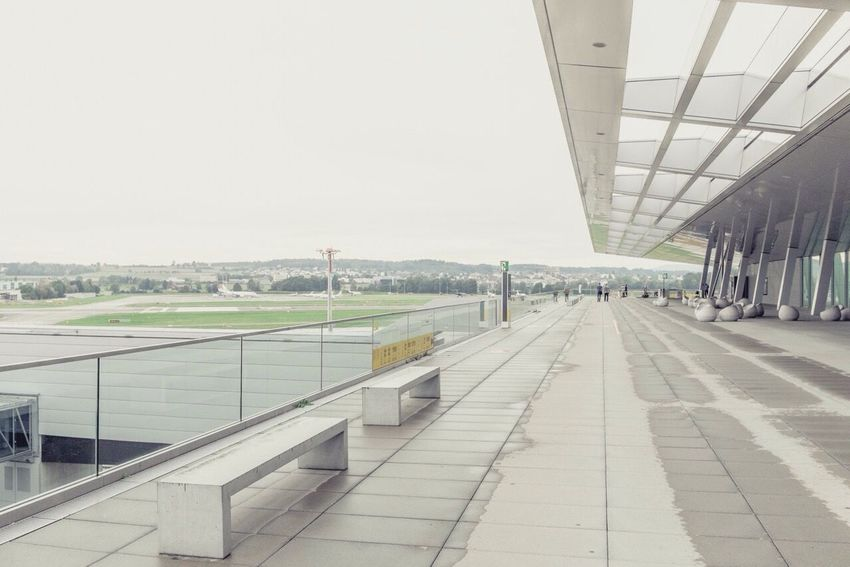 Airport Watching Airplanes Architecture Soft