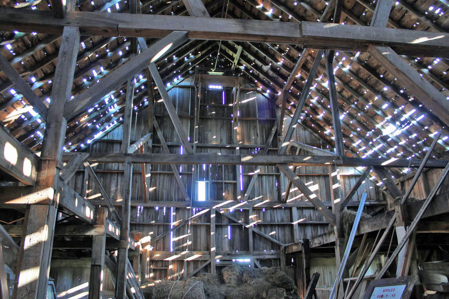 Barn Day Interior Light Rays No People Old Barn Peaking Through Wooden Wooden Structure Art Is Everywhere