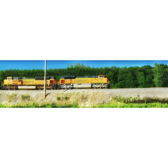 Some of my best pics are in cars..... This is a panoramic of train and I moving in same direction. The train traveling a little bit slower then I ....lol panoramic holding still.....Ks_pride Trb_country Travel Train Panoramic Accident Justtryit Whynot