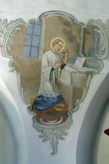 Saint Aloysius Aloysius Art Art And Craft Belief Catholic Christian Christianity Church Croatia Faith Fresco Gospel Historic Historical Holy Old Religion Religious  Sacred Saint Spiritual Spirituality Worship