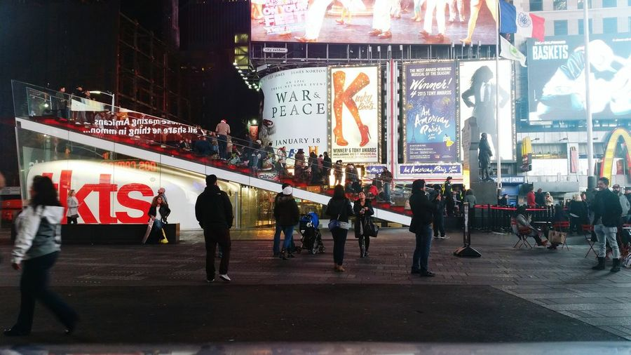 Night in Times Square. Adults Only People City Text Performance Performing Arts Event Men Only Men Outdoors Adult Day TimesSquare Times Square NYC New York City New York At Night Stories From The City Stories From The City