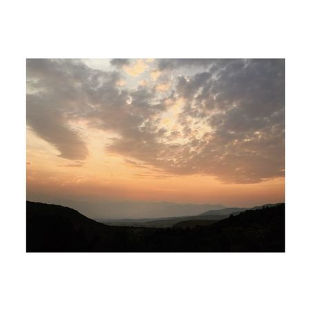 widespread wildfire smoke. Heber City Wasatch County Utah Wasatch Back Sky Beauty In Nature Scenics - Nature Cloud - Sky Sunset Tranquility Transfer Print