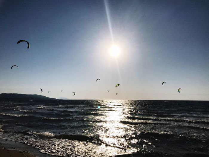 Beauty In Nature Nature Sunbeam Sunlight Sun Water Sea Kitesurf Meltemi Kiteclub Rhodes Greece Rhodes, Greece