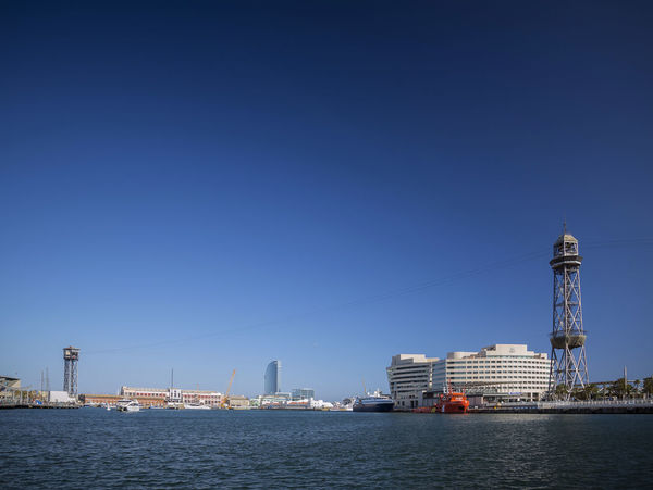 Port vell area of central Barcelona city in Spain BARCELONA PORT Barcelona Barcelona, Spain Catalonia Catalunya City Harbour Port De Barcelona  SPAIN Tourist Attraction  Clear Sky Famous Place Landmark Port Port Area Port Vell Sunny Day