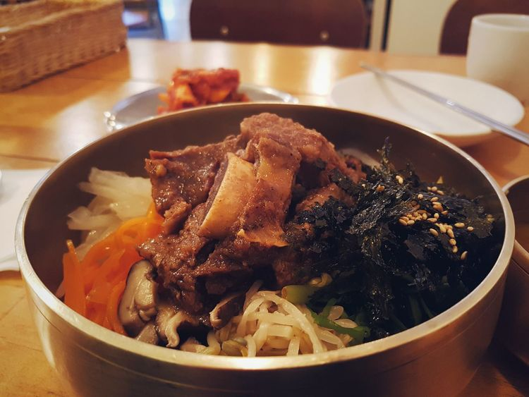 Indoors  Freshness No People Food Ready-to-eat Close-up Healthy Eating Day Bibimbab Korean Korea Cuisine Food Meal Ribs Beef Meat Bowl Bibim Traditional Korean Food Korean Meal Healthy Traditional Delicious traditional korean bibimbab with beef ribs